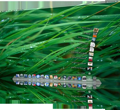 Escritorio de Mac OS X Leopard