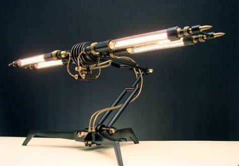 Lámpara steampunk