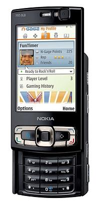N95 8GB escogiendo vídeo juegos
