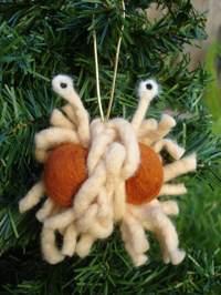 Adorno navideño del Flying Spaghetti Monster