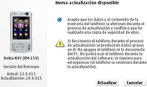 Actualizando el N95