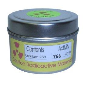 Muestras radiactivas de uranio