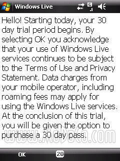 Pago de Windows Live Messenger