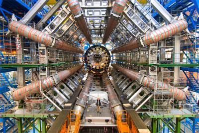Fotografía del acelerador de partículas CERN