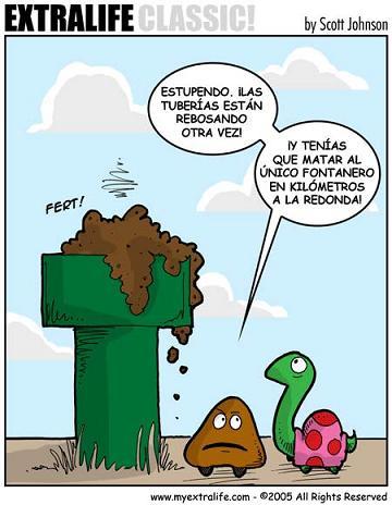Problemas de fontaneros de Super Mario Bross