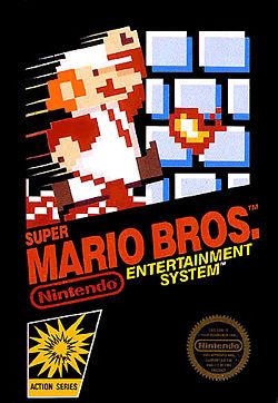 Carátula del vídeo juego de Super Mario Bross