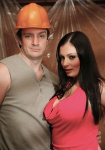 Nathan Fillion and Aria Giovanni in NAILING YOUR WIFE