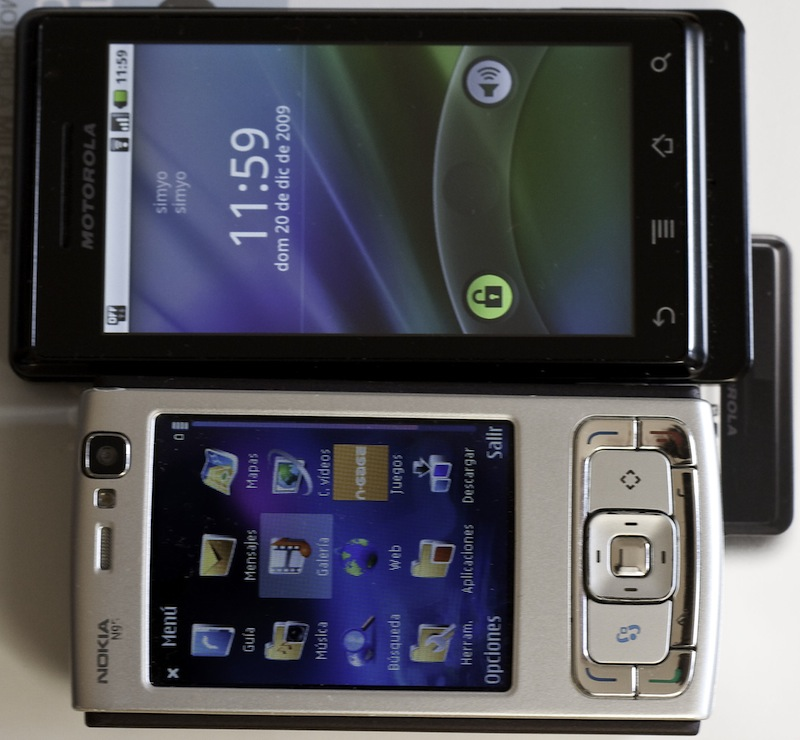 Motorola Milestone y Nokia N95