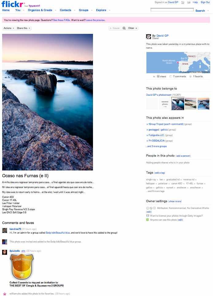 Nuevo aspecto visual de Flickr