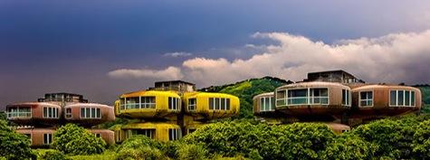 Imágenes de un hotel/conjunto de apartamentos abandonados en taiwan